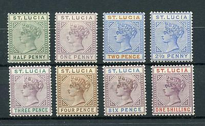 St Lucia 1891-98 short set to 1s SG43/50 MM cat £104