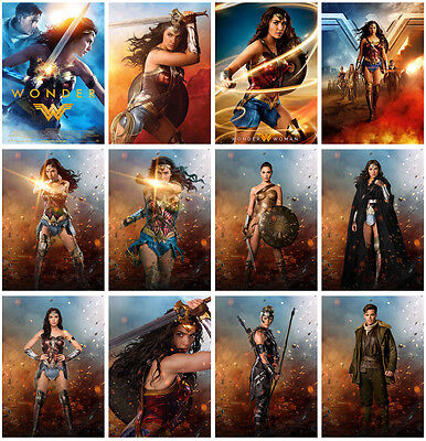 12pc Wonder Woman Movie 2017 Postcard Charactor Promo Card Photo Poster Card F06