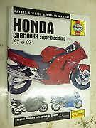 Haynes Service & Repair Manual Honda CBR110XX Super Blackbird 1997 to 2002