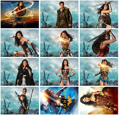 12pc Wonder Woman Movie 2017 Postcard Charactor Promo Card Photo Poster Card G07