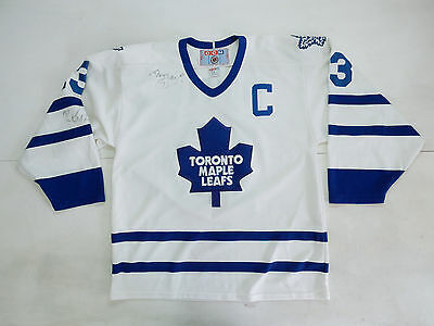 Ccm Toronto Maple Leafs Sundin Game Used Autograph Jersey Nhl Hockey Vintage