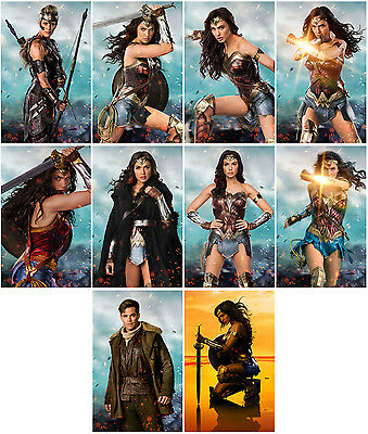 10pcs Wonder Woman Movie 2017 Promo Cards Photo Card Card Collector Stickers E05