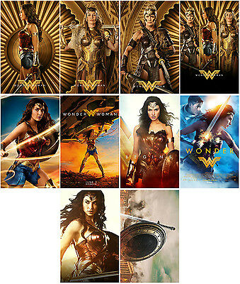 10pcs Wonder Woman Movie 2017 Promo Cards Photo Card Card Collector Stickers F06