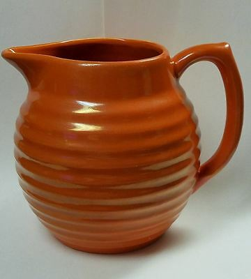 Large Old Vintage BAUER Ring Ware Jug Pitcher in Orange Glaze