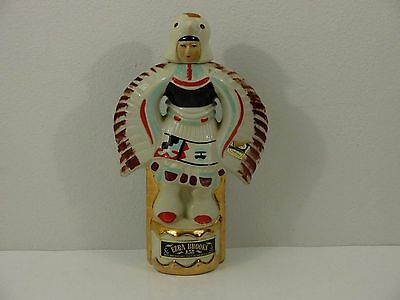 Ezra Brooks Eagle Dancer Decanter from Gallup, NM 1970 Empty
