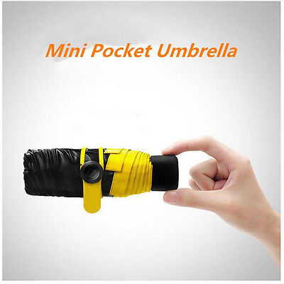 Mini Pocket Umbrella Women Sunny and Rainy Mini Fashion Folding Umbrellas