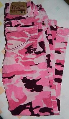 The Children's Place, Girls' Corduroy Pants, Pink Camouflage, Size 6  #j2