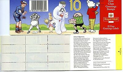 Gb 1993 Kx5 Greeting Stamps Children's Characters 10 X 1St Class First Issue