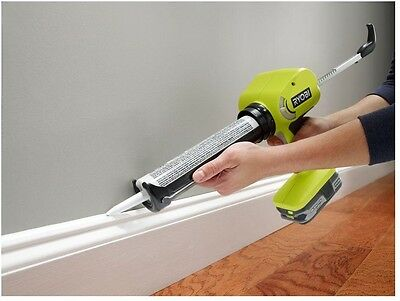 Cordless Power Caulk Adhesive Gun Heavy Duty Tool Variable Speed 18 Volt Ryobi