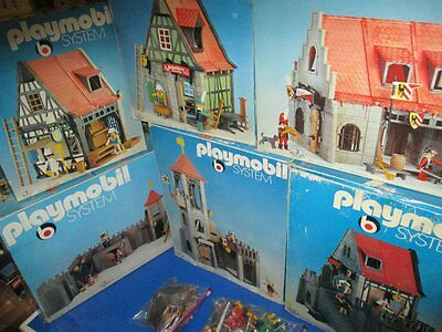 6 x PLAYMOBIL Klicky Ritter Sets 3444 3447 3440 3441 3445 3446 OVP 70er Jahre