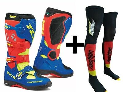 Stivale Tcx Comp Evo 2 Michelin Red/bright Blue/yellow Fluo