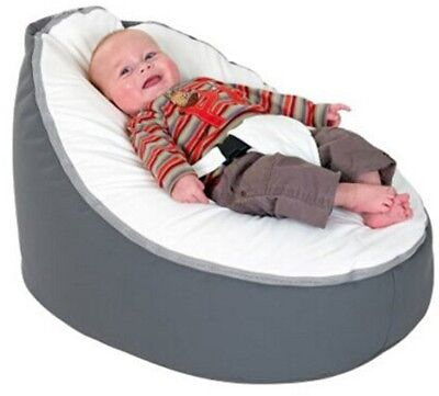 2017 Cute Grey White/ Blue 2 tops Soft Baby Bean Bag Cover Harness No Stuffings