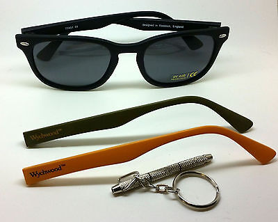 Wychwood Fishing Multi Way Sunglasses & 3 Pairs of Arms -Black / Green Available