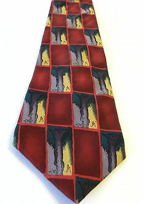 J. Garcia Tie Tree Trunk Collection Seven 100% Silk Imported, USA by Stonehenge