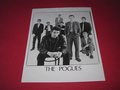THE POGUES SHANE MCGOWAN  10x 8 inch promo press photo photograph #F068_3452