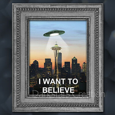 The Truth is in Seattle - Limited Edition X-file Seattle art print