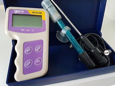 pH Meter and ORP / Redox (mV) Tester + Temperature (pH-013M)