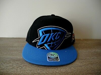 quality design c7204 f587d New Black Blue OKC Oklahoma City Thunder Adjustable Snapback Hat Forty  Seven Hat