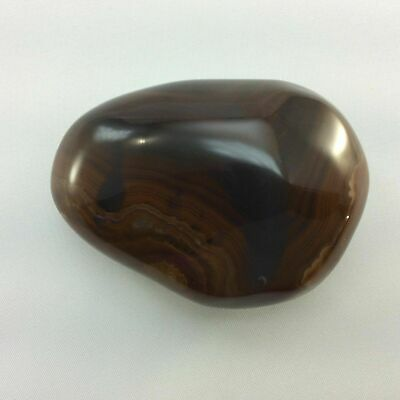 Banded Agate 170507 Mini Massage Therapy Stone Protection Strength Metaphysical