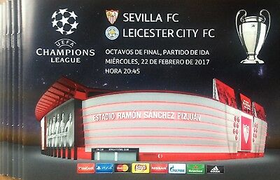 2017 SEVILLA v LEICESTER CITY CHAMPIONS LEAGUE PROGRAMME DIRECTLY FROM SEVILLA
