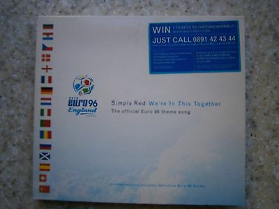 Limited Edition Simply Red Double Cd & Mastercard Euro 96 England Official Card