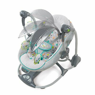 Swing Seat Infant Portable  Foldable Soothing Vibrating Musical 5 Point Harness
