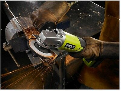 4 1/2 in Cordless Angle Grinder Portable 18 Volt Lithium Ion Ryobi Power Tool