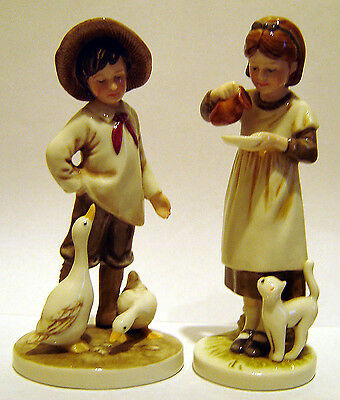 Royal Osborne Figurines Childhood Memories Boy & Girl Ever So Cute