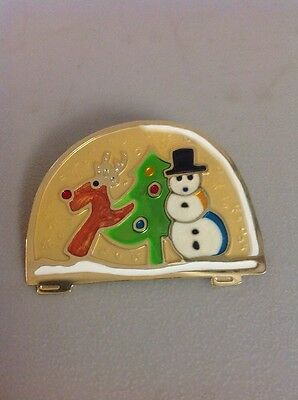 Free Shipping!! VINTAGE CHRISTMAS HOLIDAY PIN BROOCH- Snowman