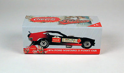 Coca-Cola Festoon '74 Ford Mustang II Funny Car Collector Tin Johnny Lightning