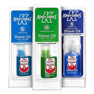 King of Shaves Shave Oil, Multibuy Discounts, Sensitive, Supercooling, Advanced