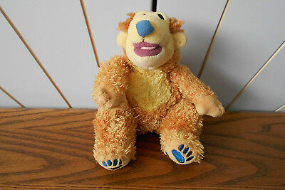 BEAR IN THE BIG BLUE HOUSE character beanie soft toy DISNEY STORE plush teddy