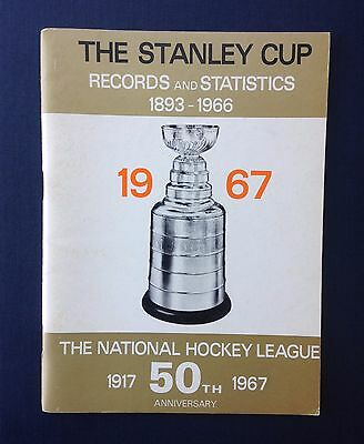 1967 The Stanley Cup Records & Statistics 1893-1966 Media Guide NHL 50th Anniv