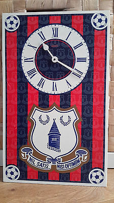 Vintage Retro Everton Football Wall Clock 90s Kit Bedroom Office Collection