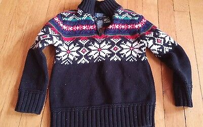 boys polo ralph lauren cotton nordic snowflake sweater 5