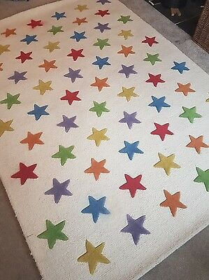 New GLTC Rainbow Star Rug 120 x 180cm RRP £175