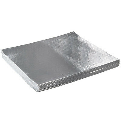 """Choice 10 3/4"""" x 14"""" Insulated Foil Sandwich Wrap Sheets - 500/Pack"""