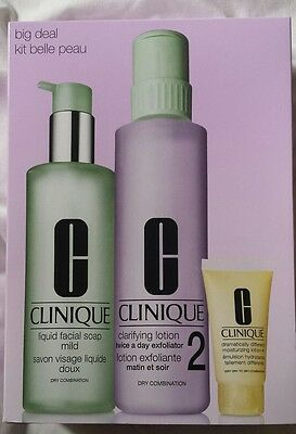 BRAND NEW CLINIQUE SUPER SIZE/VALUE 3-STEP Skin Care Set - Skin Type 2