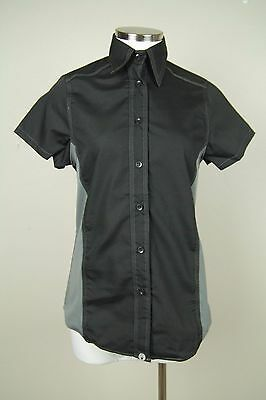 Chef Works Womens L Black Cool Vent Button Down Chef Shirt NWT SZ S