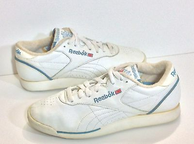 Reebok Vintage 80s Aerobics Freestyle Low  9 US 7 UK 40.5 EUR White Leather