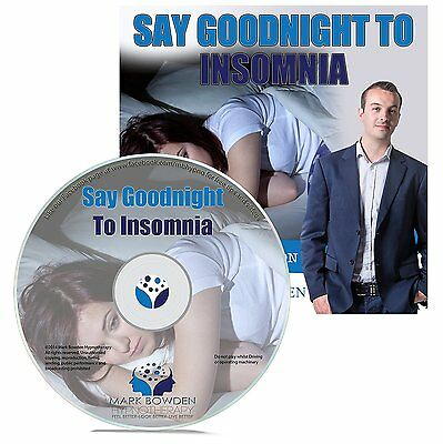 Say Goodnight to Insomnia Self Hypnosis CD, Hypnotherapy Sleep Meditation Bowden