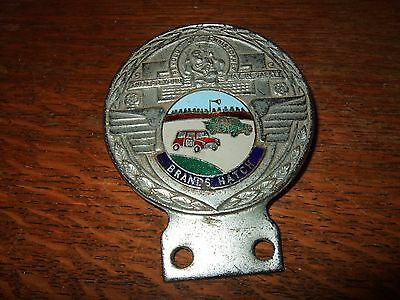Vintage 1960s BRANDS HATCH ST CHRISTOPHER car badge Mk1 Mini Cooper, Ford Anglia