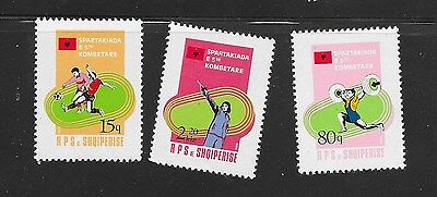 THREE Albania Stamps MNH 1984, Sports Stamps **RARE??**