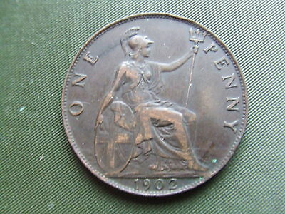 Edward Vii   1902, Penny.     Nice Condition With Good Sharp Detail