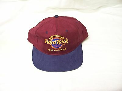 Hard Rock Cafe Hat Cap Save The Earth Snap Back New Orleans Blue n Maroon