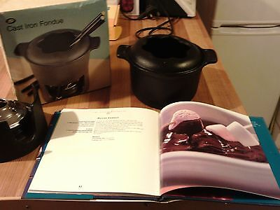 Boots Cast Iron Fondue Used With Cookbook Dinner Parties Kitchen Classy Living