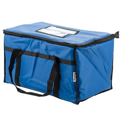 "Choice 23"" x 13"" x 15"" Blue Insulated Nylon Food Delivery Bag / Pan Carrier"