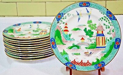 "Crown Staffordshire Ye Olde Willow Chinese Willow 8""  Salad Plates (13 avail)"
