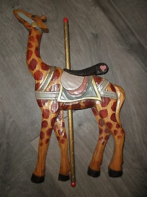 Carousel Giraffe, Carved & Painted Wood - Merry-go-Round Animal, dated 1989