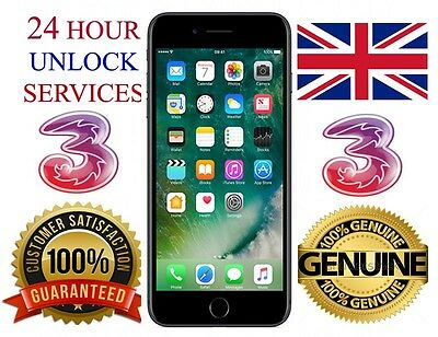 3 (Three)Uk Network  Iphone 4 4S 5 5S 6 6 Plus Factory Unlock Service Speedy Unl